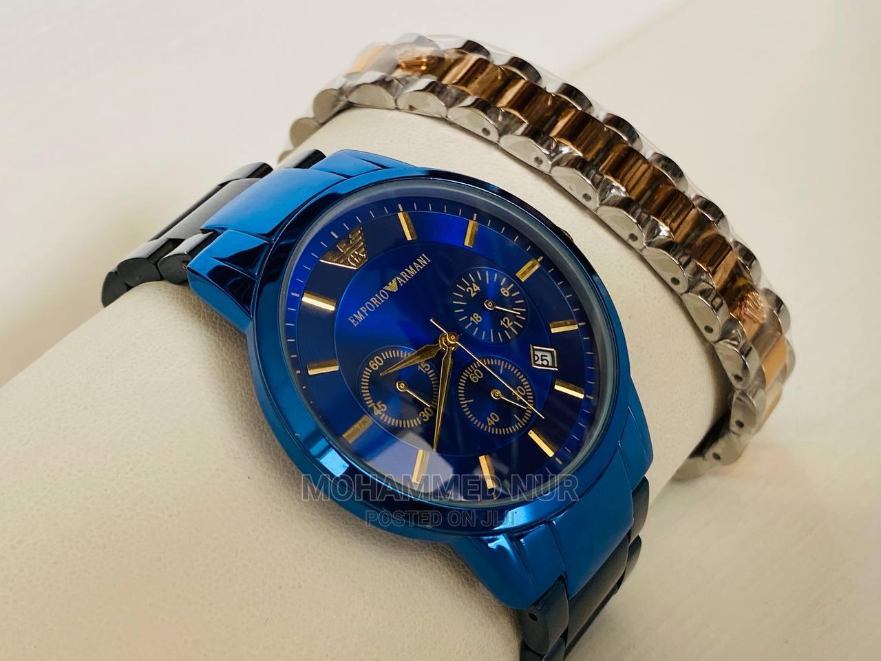 Blue Black Emporio Armani  Watch