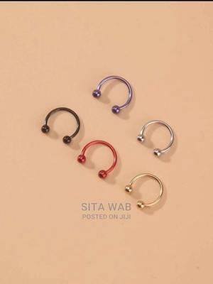 5 Pcs Stainless Steel Nose Ring   Jewelry for sale in Addis Ababa, Kolfe Keranio
