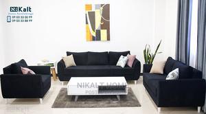 Full Set Black Sofa | Furniture for sale in Addis Ababa, Nifas Silk-Lafto