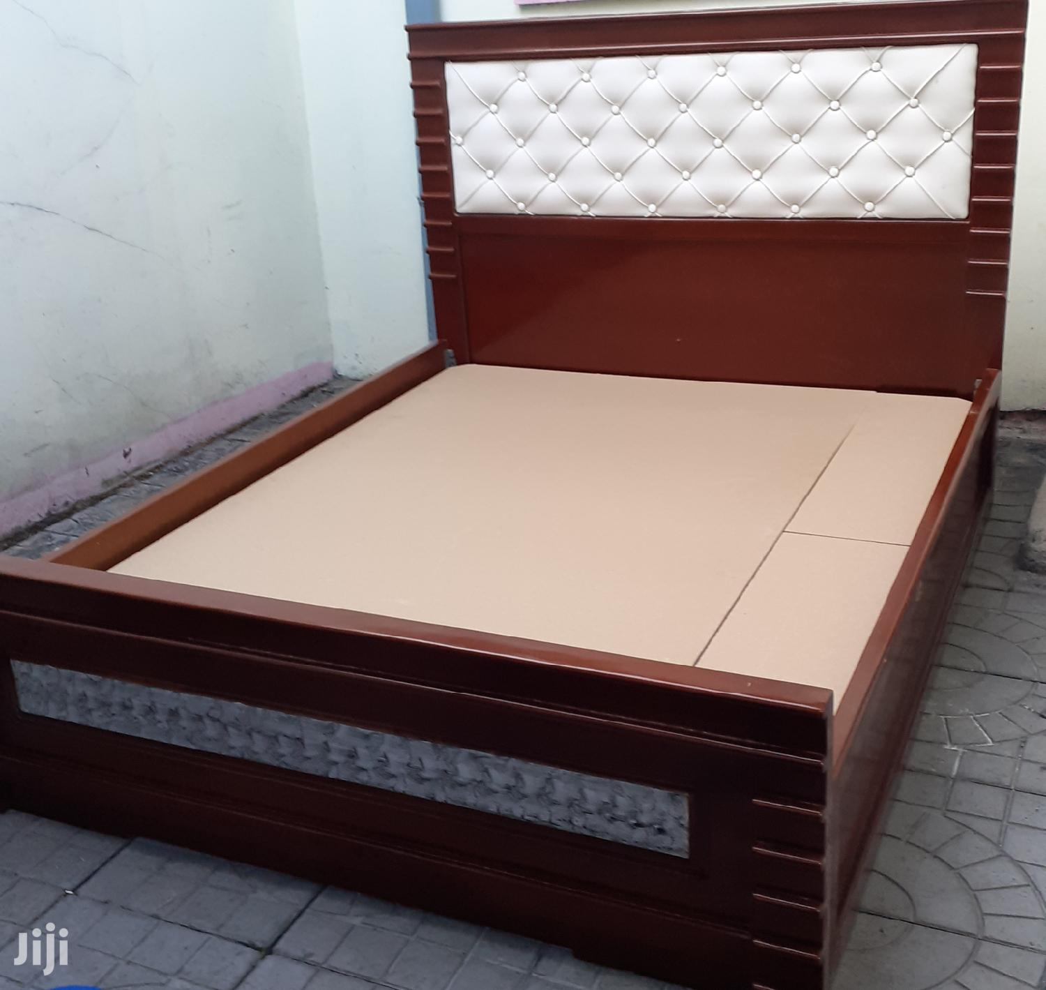 New Quality Bed 1.50cm+Side Table   Furniture for sale in Bole, Addis Ababa, Ethiopia